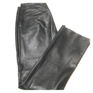 Express Genuine Black Leather Pants sz 5/6